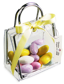 Clear Wedding Favor Bag with Candy.