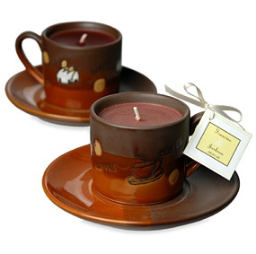Espresso Coffee Candle Cup With Saucer*