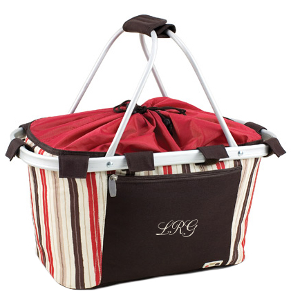 Collapsible Fashion Chic Embroidered Picnic Basket