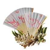 Bamboo Beach Coral Wedding Fan
