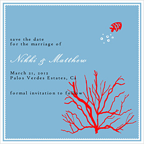 Coral Fish Save The Date Cards