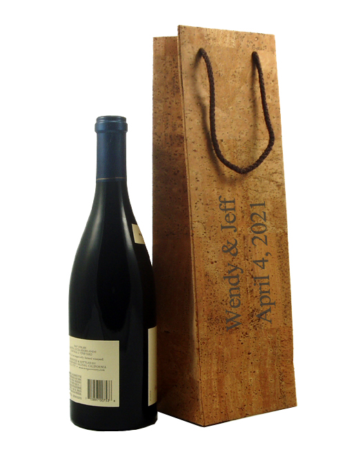 Natural Cork Leather Wine Bag Carrier