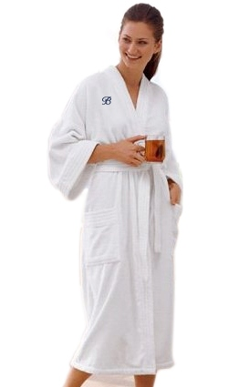 White Terry Velour Bath Robe