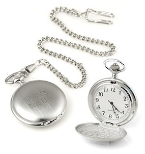 Personalized Silver Travel Pocket Watch