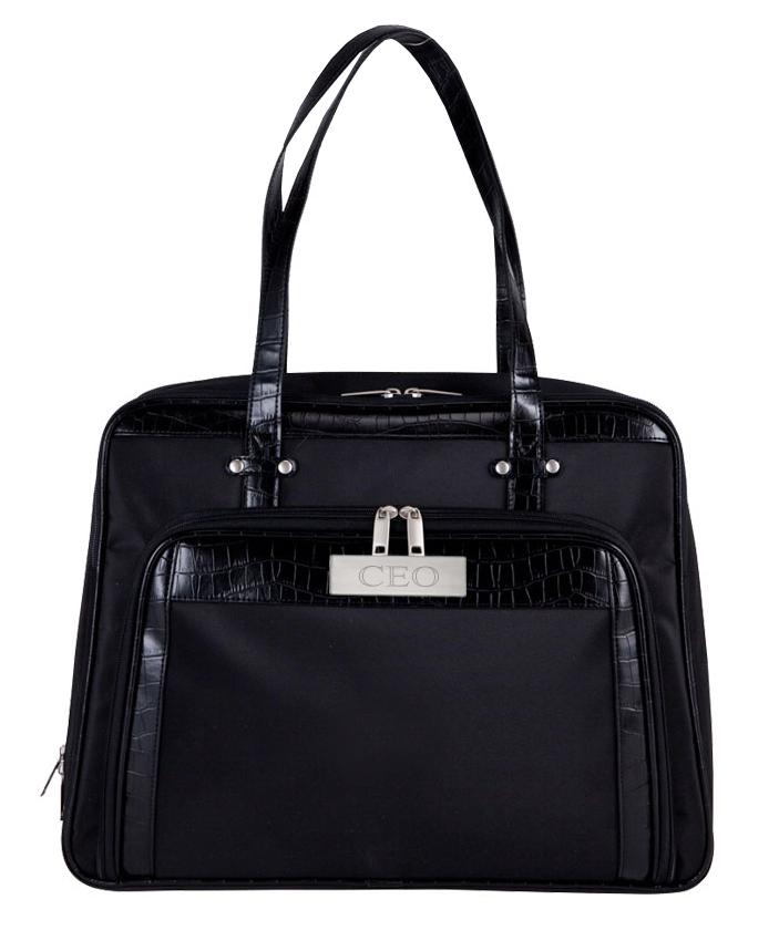 Black Chic Computer Croc Fashion Carry Bag