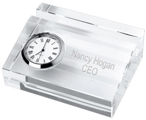 Crystal business card holder with clock hansonellis crystal business card holder with clock colourmoves