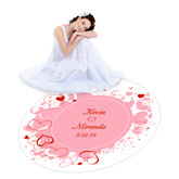 Custom Wedding Hearts Dance Floor Decal