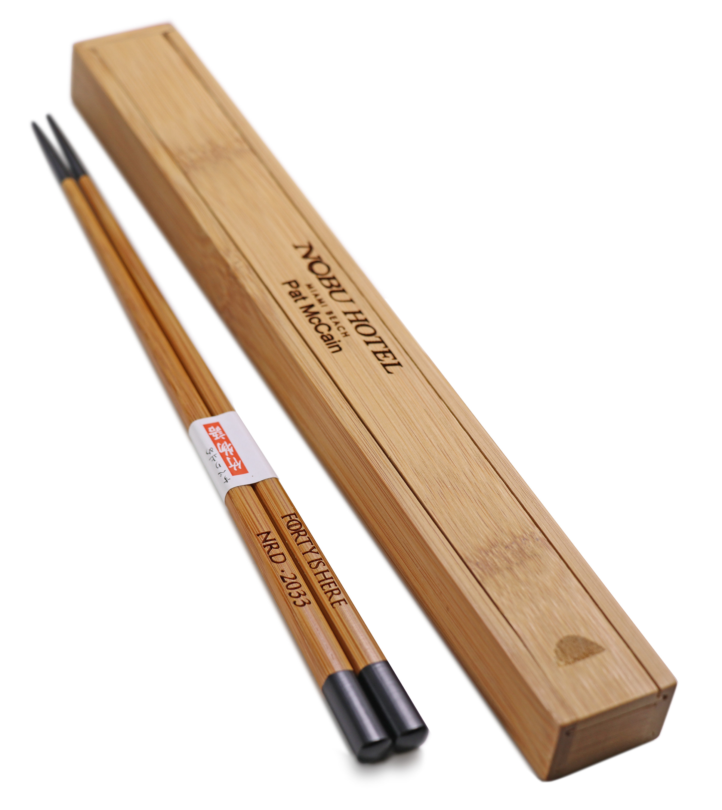 Personalized Black Bamboo Chinese Wood Chopsticks