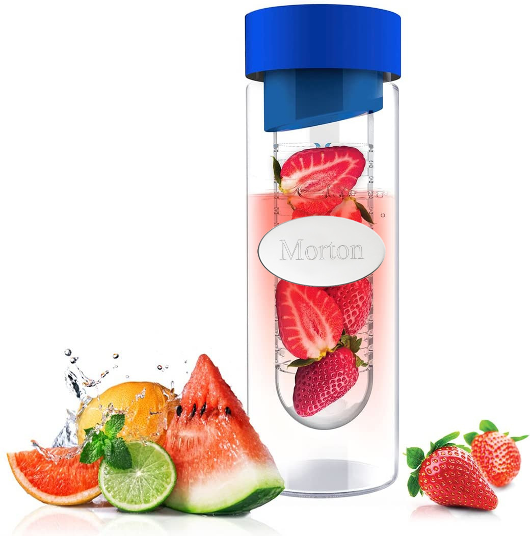 Glass Flavor Water Bottle with Built In Fruit Infuser