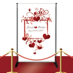 Mr. & Mrs. Custom Red Carpet Wedding Banner: HansonEllis.com