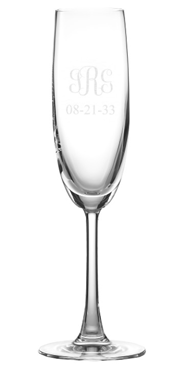 Crystal European Toasting Flute Champagne Glass