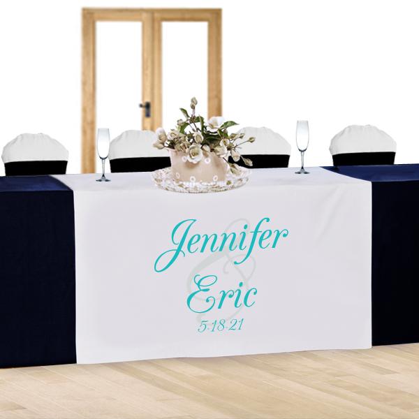 Bride Groom Custom Wedding Table Runner Hansonellis