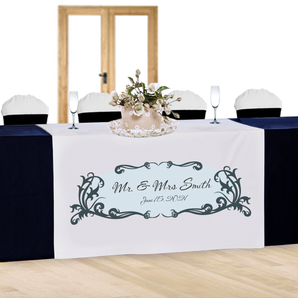 Mr Mrs Personalized Wedding Table Runner