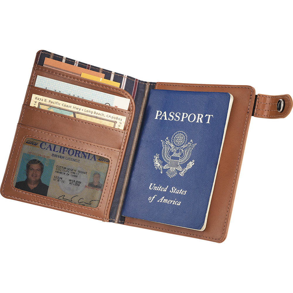 Legacy Leather Passport Wallet & Business Card Holder