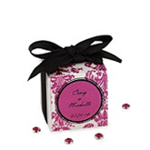 Personalized Damask Wedding Favor Box