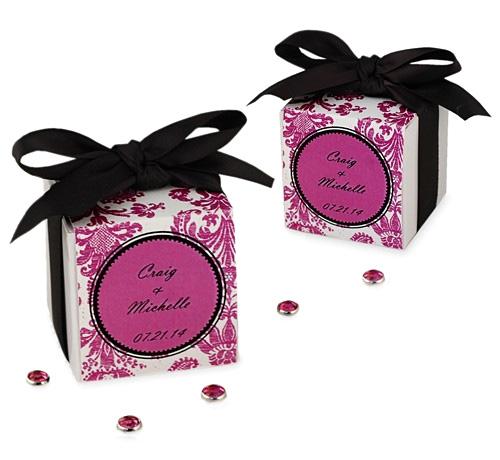 Personalized Damask Wedding Favor Box