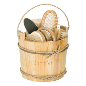 Deluxe Personalized Wooden Spa Set*