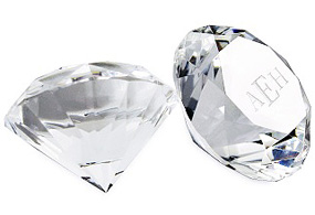 Crystal Paper Weight Diamond Achievement Award