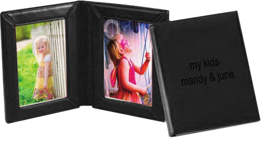 """4"""" x 6"""" Double Leather Picture Frame"""