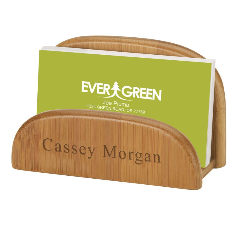 Eco Friendly Bamboo Business Card Holder Hansonellis Com