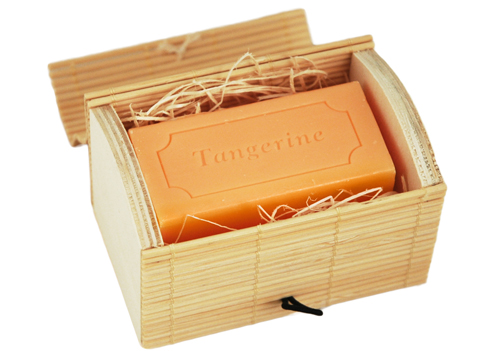 Eco-Friendly Bamboo Treasure Box Soap Favor