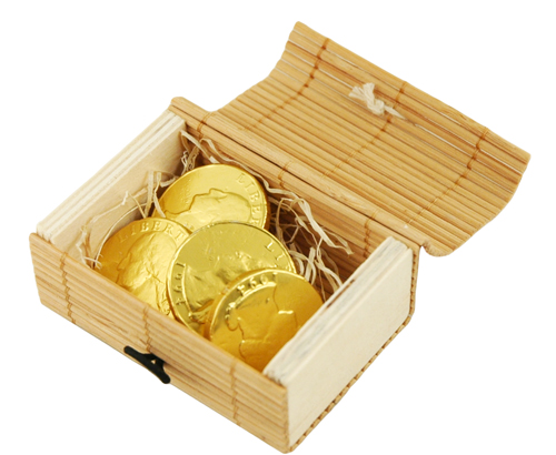 Eco-Friendly Mini Bamboo Treasure Favor Box