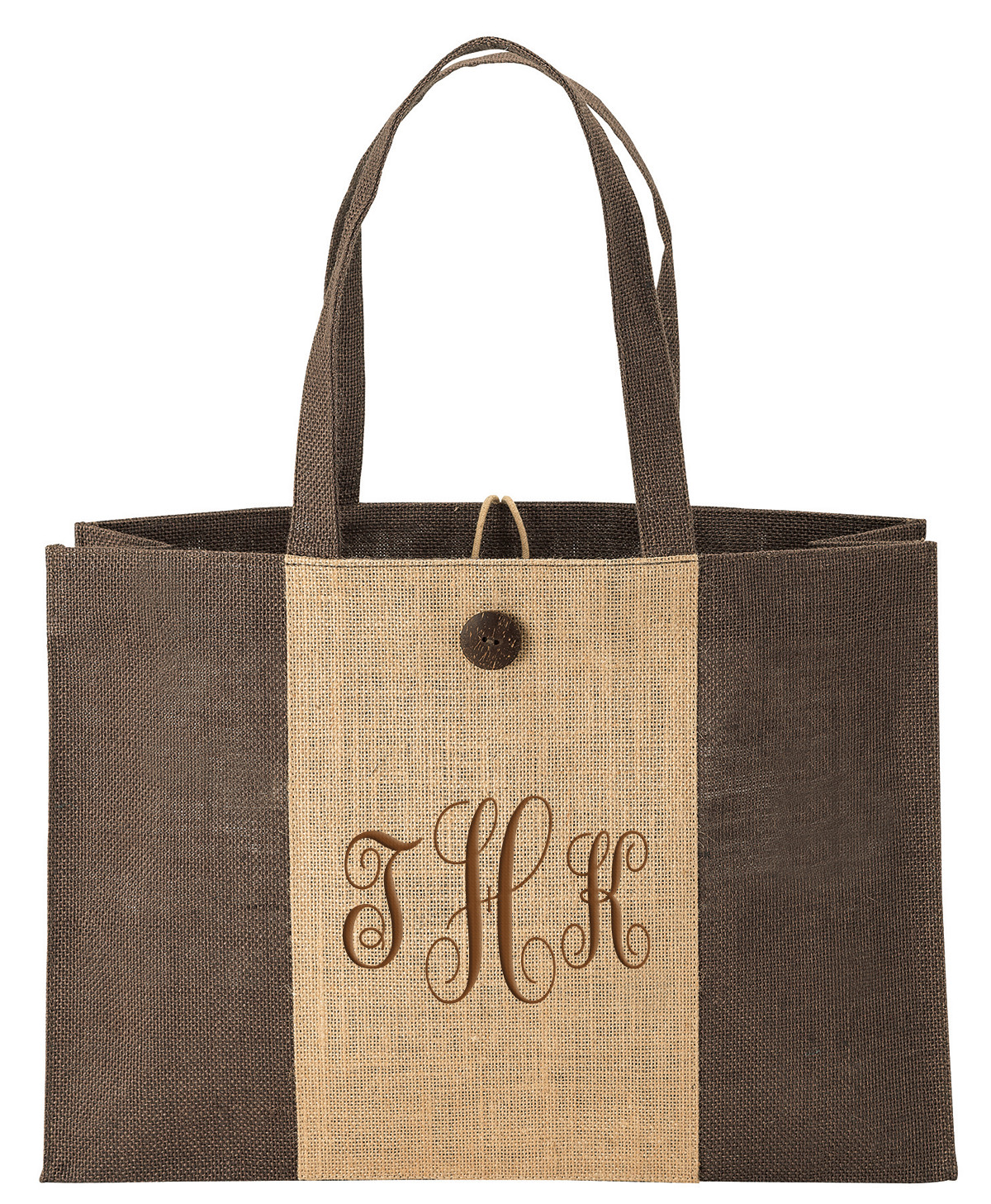 Eco-Friendly Two-Tone Jute Shopping Bag
