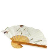 Bamboo Flower Petal Wedding Fan