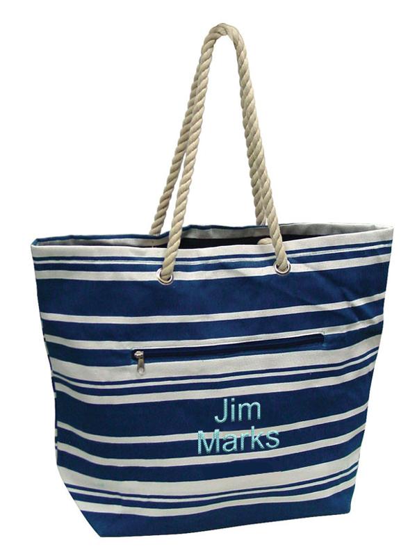 Eco Friendly Striped Beach Tote Bag