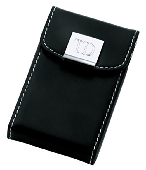 black leather business card case - Leather Business Card Case