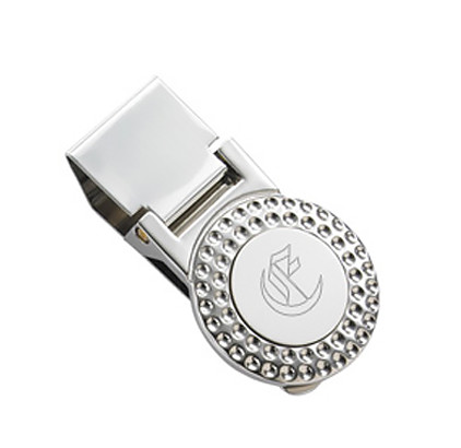 Silver Golf Ball Money Clip