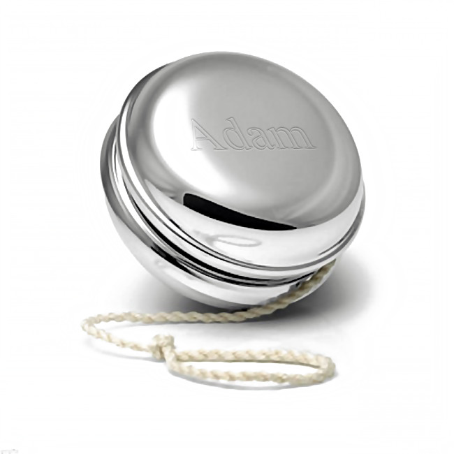 Silver Engraved Polished Yo-Yo