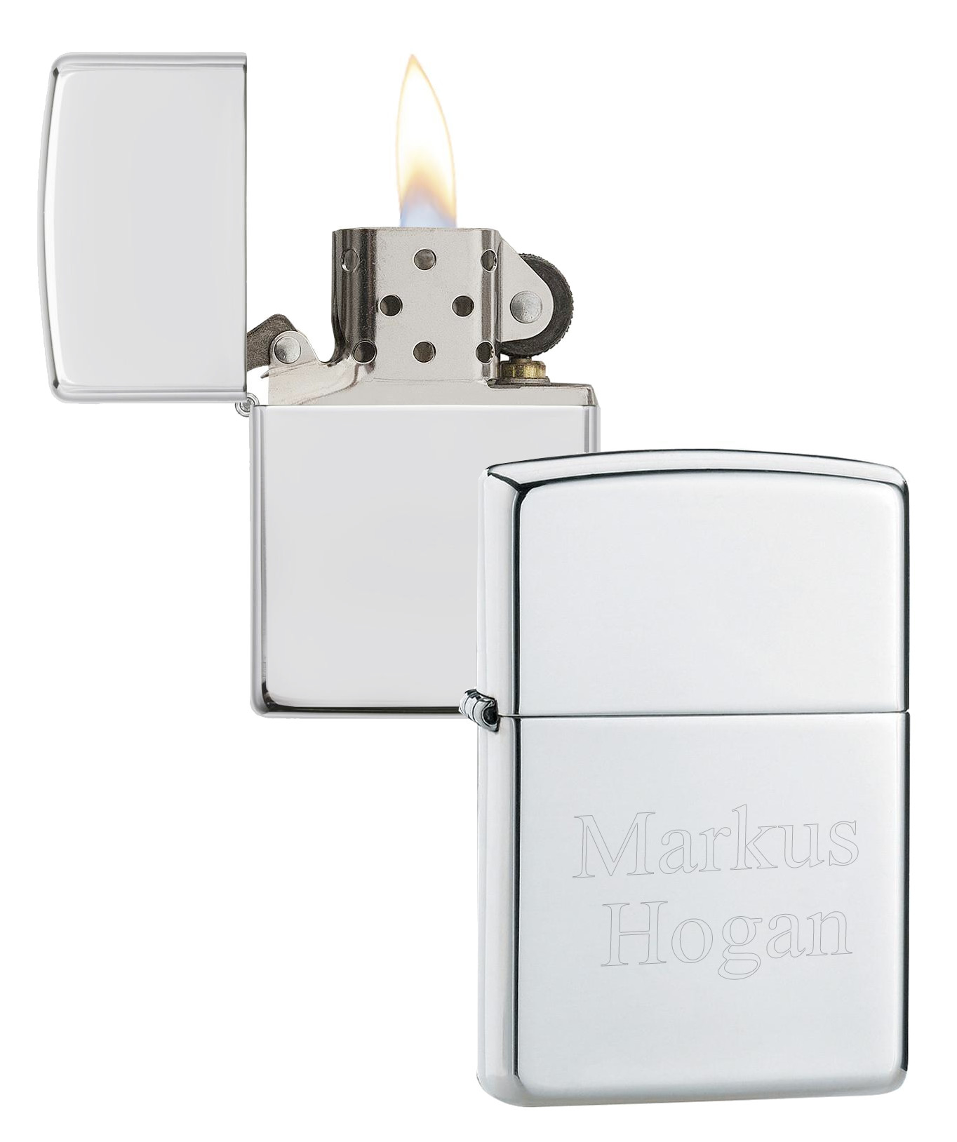 Silver Polished Classic Zippo Lighter