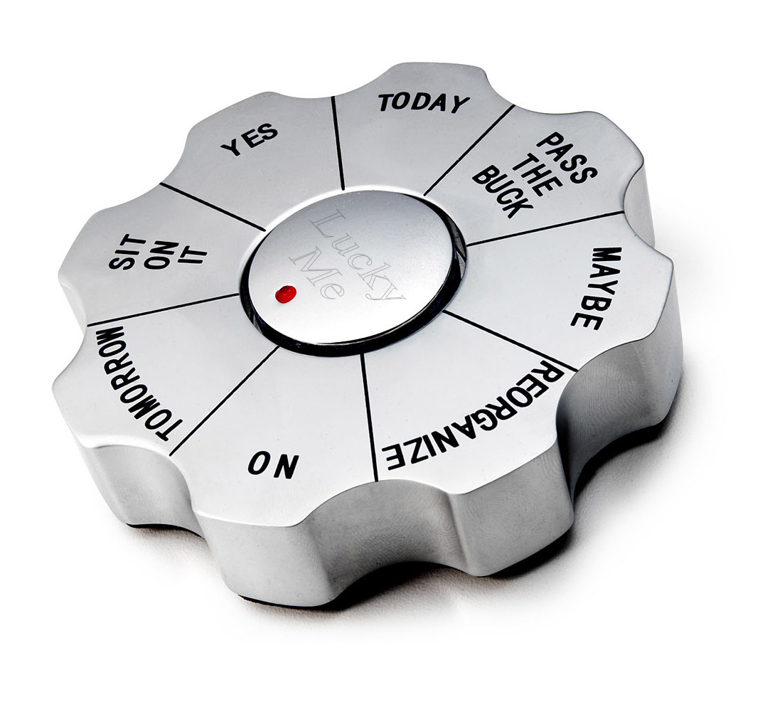 Personalizable Spinning Executive Paperweight Decision Maker