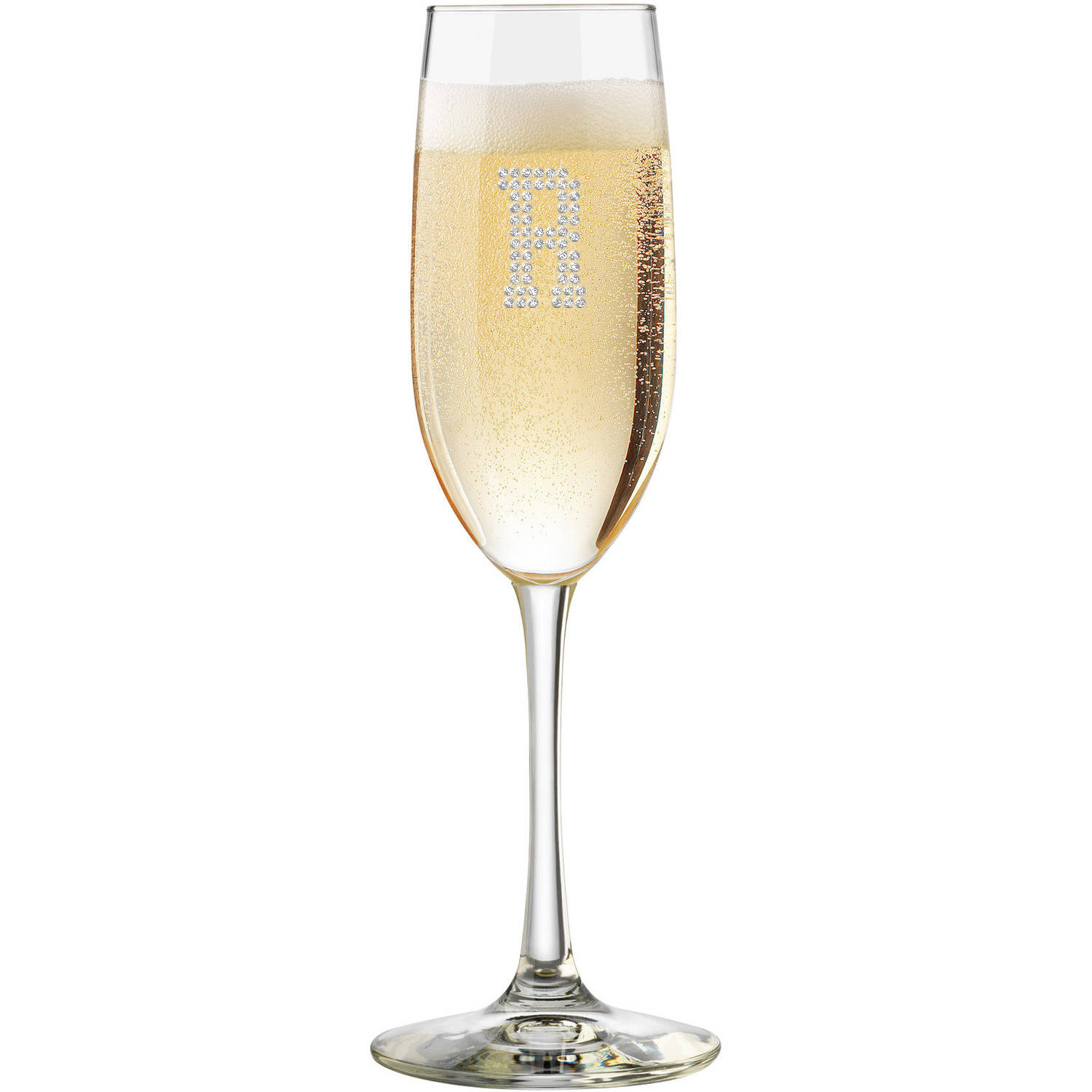 toasting flute champagne glass optional personalized crystal rhinestones. Black Bedroom Furniture Sets. Home Design Ideas