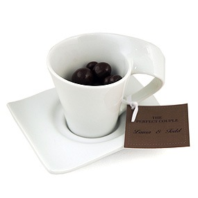 White Espresso Cup And Saucer Set Of 4