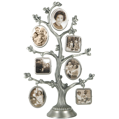 Wallverbs Family Tree Personalized Picture Frame Set: Family Tree Metal Photo Frame Set: HansonEllis.com