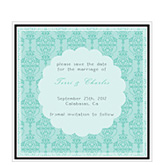 Floral Damask Save The Date Cards