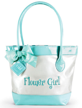 Embroidered Flower Girl Tote Bag*