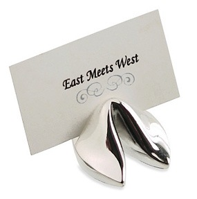 Silver Fortune Cookie Placecard Holders