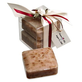 Scented Rose Squares Soap Favor Box