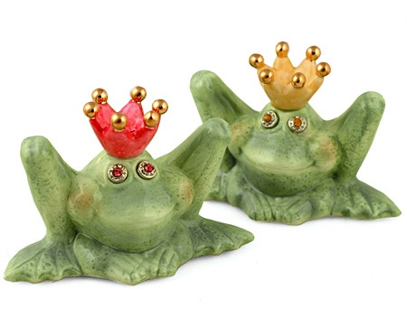 Frog Prince and Princess Salt & Pepper Shakers