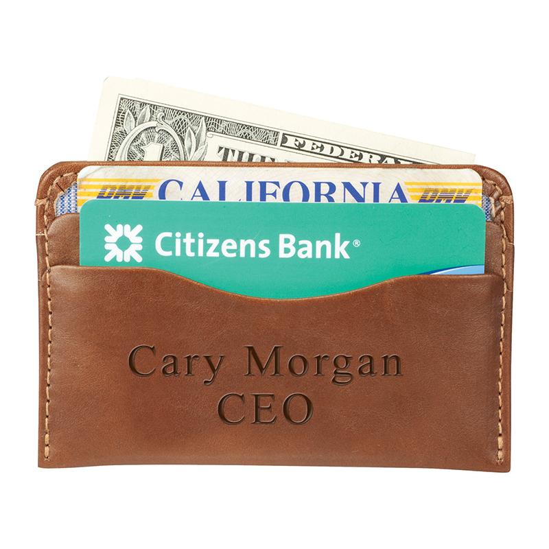 Personalized Genuine Leather Credit Card Wallet