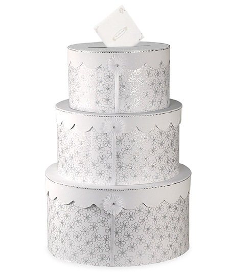 3 Tier Wedding Cake Gift Card Box