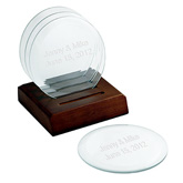 Round Glass Bar Coasters