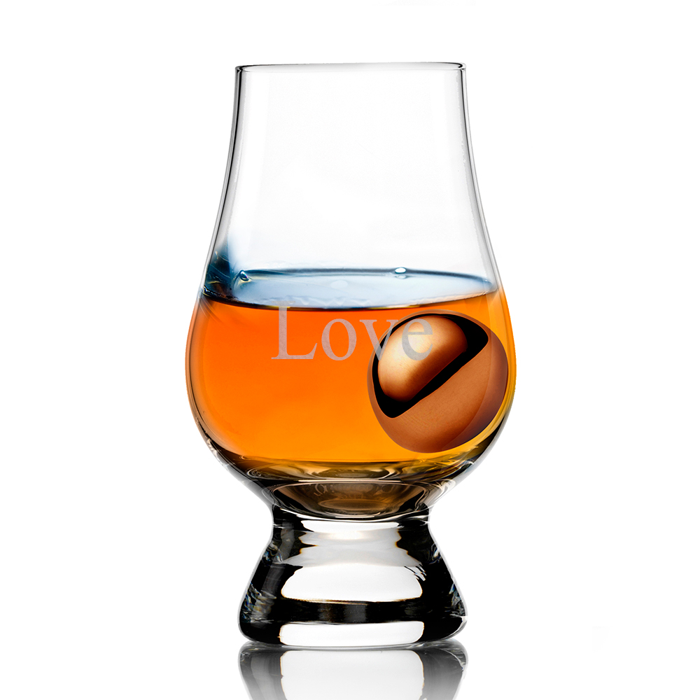 Glencairn Whisky Glass and Stainless Steel Chilling Ball