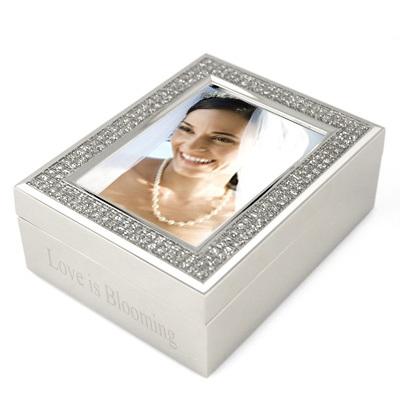 "2"" x 3"" Glitter Photo Frame Jewelry Box"