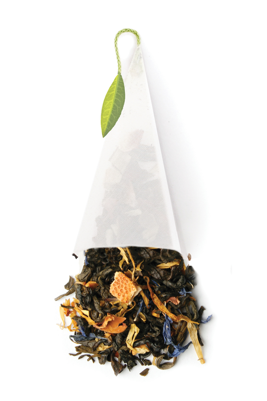 Oasis Green Herbal Tea-Licious Pyramid Bag Favor: HansonEllis.com