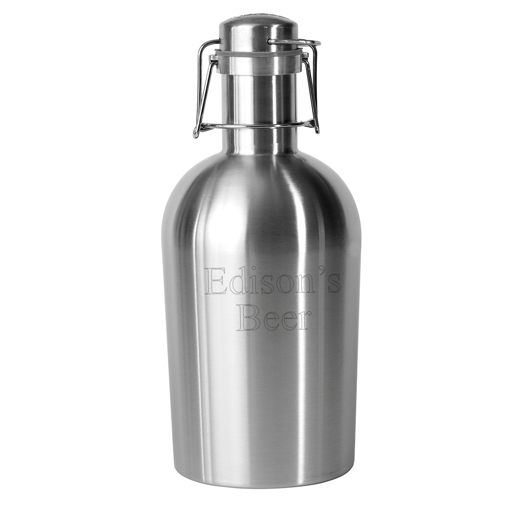 Engraved Stainless Steel Growler 2 Go Brewers Bottle