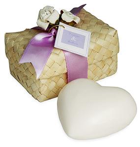 Heart Soap in Hawaiian Favor Box
